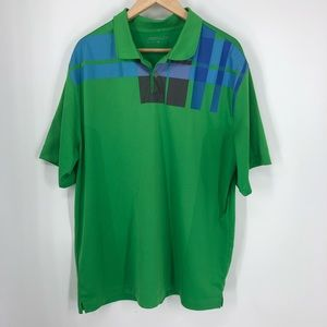 Men's XL green Nike Golf shirt like new